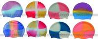 Multi color swimming hats colorful swim cap,Rainbow swimming hats /cap