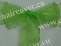 50pcs new lime sparkle organza chair sashes wedding party banquet decoration