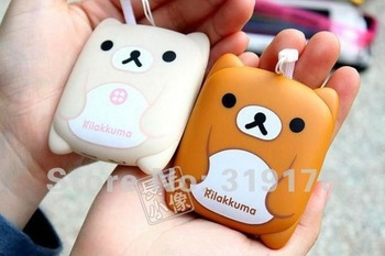 NEW! 2800mAh Rilakkuma lovely little bear shape, Hello Kitty Mini external power bank for mobile phones,for iphones, HTC, Nokia