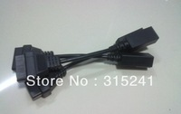 free shipping for honda 3 pin OBD2 Adaptor Cable