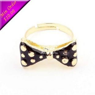 2014 New Arrival Korean Fashion Sweet Lady Bow Opening Ring R494