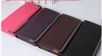Free shipping  Concise Wallet Leather handbag hand bags for women 2013 bag Purse Clutch bags Card Holder Case