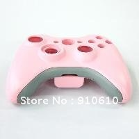 Free shipping Pink Wireless Controller Shell Case Kit For Xbox 360