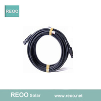 10meters 1x4mm2 solar cable with connector, MC4 solar panel cable connector, PC insulated, factory price