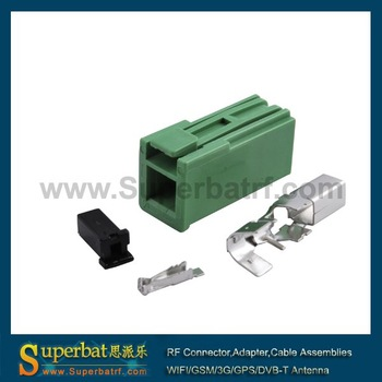GSM/GPS antenna connector HRS GT5-1S green for RG316,RG174