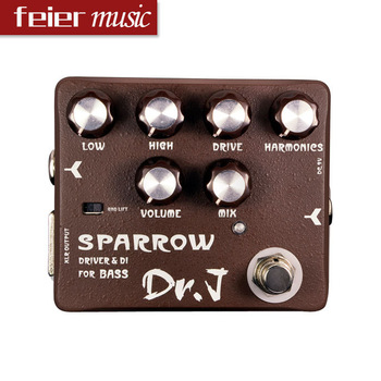 Free shipping New Multi-effect Pedal DR.J D53 SPARROW DRIVER Guitar Pedal & DI FOR BASS
