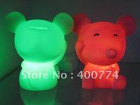 LED  flashing Mouse ,led money box  piggy bank, led doll ,saving box LED flashing toy gift