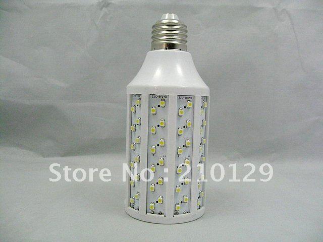 Free shipping!SMD3528 132PCS E27 12W Degree 360 white/warm white led corn light energy saving 200-240V 1 year warranty(China (Mainland))