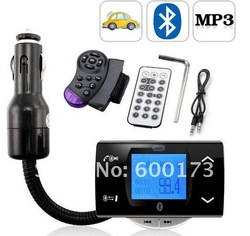 Bluetooth Car Kit MP3 Player FM Transmitter Modulator Remote Control Talking in handsfree Free Shipping(China (Mainland))
