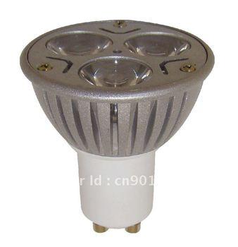 The GU10 positive of the LED spotlight spot lights lighting 110-220V 3W  LED bulb light lamp  high bay LED ! Free Shipping!