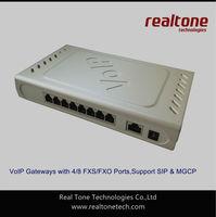Free Shipping!  8 FXS ports VoIP Gateway based on SIP/MGCP, Asterisk Gateway, Elastix Gateway