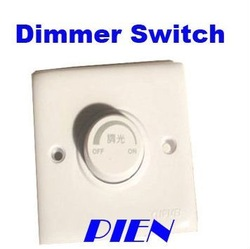 Led Dimmer Switch 200V-250V Adjustable Brightness Wall Controller for LED Dimmable LED Bulb Light Lamp Free Shipping 1pcs/lot(China (Mainland))