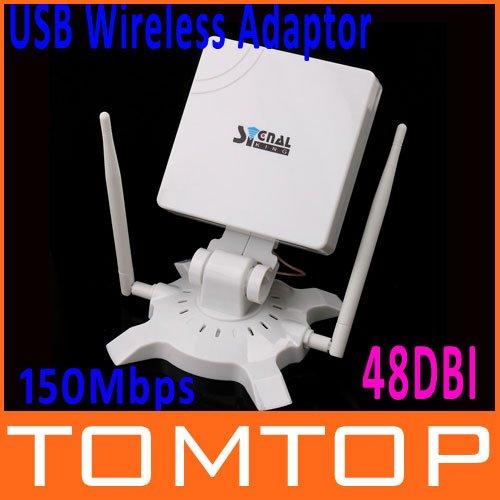 High Power SignalKing Signal King 48DBI USB Wifi Wireless Adaptor Network Card Antenna 150Mbps SK-950WN Free Shipping!(China (Mainland))