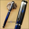 BAOER 508 blue and silver polished roller ball pen free shipping