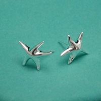 Free Shipping Silver Plated Earring.Fashion jewelry.Fashion Star Earring.wholesale Price High QualityMin Mix Order 3 Pcs