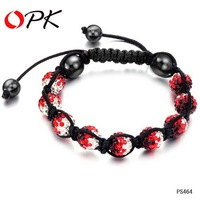OPK JEWELRY HOT HOT!! chamballa Bracelets , Red Bracelet Jewelry Hot Fashion  464