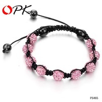 OPK JEWELRY HOT HOT!! chamballa Bracelets ,Pink Crystal  Bracelet Jewelry Hot Fashion  465
