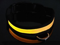 New fashion collar, LED flashing  nylon dog collars, 50sets/lot dog collar LED pet collar,  pet accessory, pet products supplies