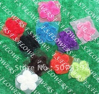 """Free ePacket/CPAP 50pcs 5"""" chic chiffon flowers for clothes clothing garment bag accessories oraments 10 colors"""