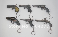 Free Shipping,6pcs/Set Imitation gun model,handgun models,imitation weapon models with keychain/keyring