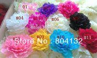 50Pcs/lot 17cm Silk Artificial Peony Rose Camellia Flower Heads for Wedding Christmas Decoration DIY Jew Brooch Baby Headware