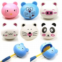 6 pcs/pack Cute Cartoon Animal Plastic Tooth Brush Holder With Sucker (KA-12)