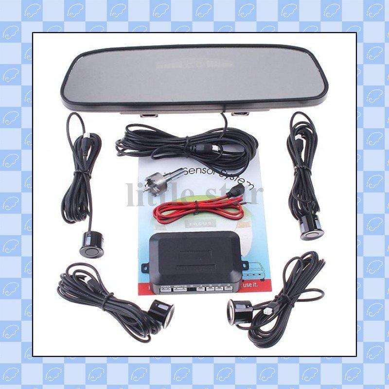 Система помощи при парковке 4 Parking Sensors Car Backup Reverse Radar Rearview Mirror, Parking sensor & Rearview Mirror, parking sensor system