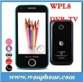 Fast Shipping!!! New DVB-T Digital TV Mobile Phone WPL8 With Wifi MPEG4 &MPEG2(China (Mainland))