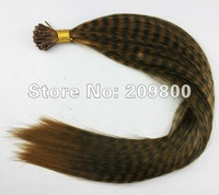 16''  100strands  Grizzly Stick tipped Feather Hair extensions synthetic hair , #dark brown