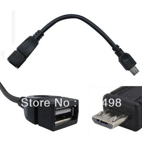 Micro Male to Female USB Converter Adapter Cable, USB OTG host data cable for S2 S3 S4 i9500 i9300 i9100 Note N7000 i9220 XOOM(China (Mainland))