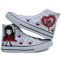 ladies' shoes happy childhood  pattern canvas shoes Z-B1069