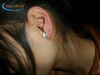 2013 NEW arrival New design 200pcs/lot(100pairs)Free shipping 20*7mm 8color led stud earring led flash stud earring for party