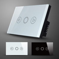 AU/US Type Light Dimmer Switch with Touchscreen Glass Panel, AC110-240V/50Hz~60Hz