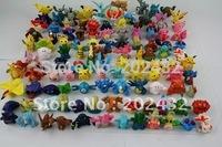 144pcs/lot  all different styles mini pokemon pvc figures