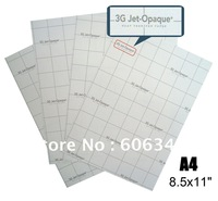 "100 Sheets 8.5x11"" 3G Jet-Opaque Inkjet Transfer Paper for dark fabrics A4 heat transfer paper"