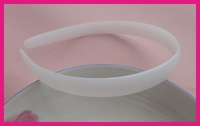 BARGAIN for BULK 14mm white plain plastic half round hair headbands without teeth at eco-friendly material