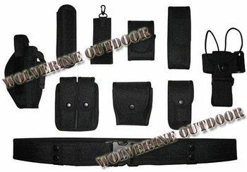 Free Shipping POLICE Law Enforcement Duty Belt (Tactical Utility Belt,Modular POLICE Duty Gear - BLACK)77001