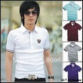 2012 TOMMY Men&#39;s Stylish Polo shirts Slim Fit short Sleeve Casual T-Shirt Tops Fall Sales 4 colors Free shipping