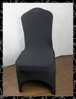 Free shipping chair cover - banquet chair cover  with arc  (black)