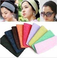 Free Shipping! Hot Selling~ 12pcs Fashion Headwear,Fashion Beautiful Flannelette Head Scarf, Hair Band