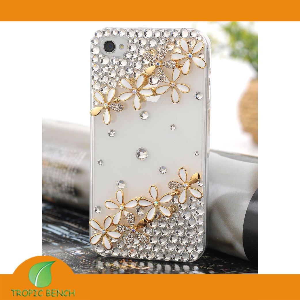 DESIGNER-PHONE-CASE-Vans-Crystal-Bling-10pcs-Flower-Cell-Phone-Cover ...