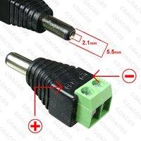 LOT 10 X DC Power Jack Connector - Male CCTV 12v CABLE ADAPTOR PLUG CCTV DVR Camera