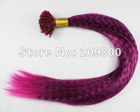 16''  100strands  Grizzly Stick tipped wholesale feathers hair extensions synthetic hair , #rose