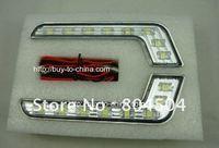 Free shipping Metallic materials LED daytime running lights
