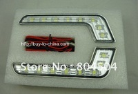 Free shipping Metallic materials LED daytime running lights