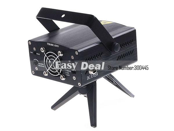 S-d010 красные и зеленые и желтые мини-проектор голосовое управление освещение этапа лазера для DJ Party Club Дискотека перемещения участник свет