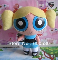 June 1 Children's gifts in children 's plush toys Powerpuff Girls Flying flower girl bubble puppet  free shipping