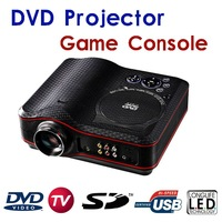 LED Projector with DVD USB SD TV  Game Console Projector 1800 lumens HD Home Theater projector with DVD playber/TV/GAME/USB/SD