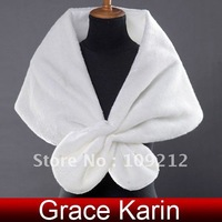 Free Shipping 1pcs/lot GK Faux Fur Wedding Bridal Wrap Shawl Stole Bolero Shrug Tippet Jackets CL2614