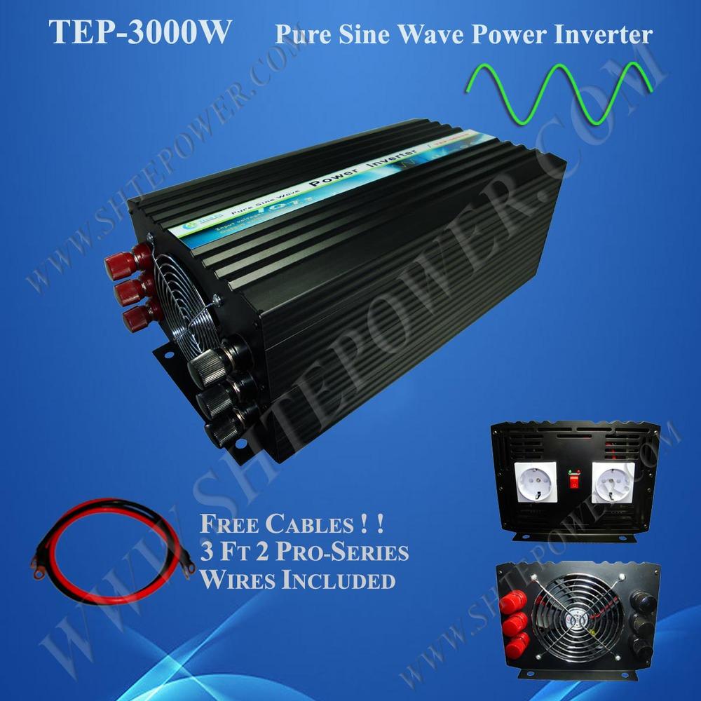 3000w pure sine wave solar power inverter 24v 230v 3kw inverter(China (Mainland))